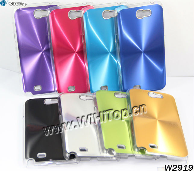 High Quality CD effect Alloy Aluminum Case Cover for Samsung Galaxy Note II N7100. Accept wholesale orders