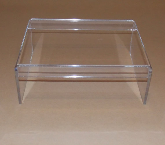 Clear Acrylic Riser Stand For Desktop Monitor Computer Monitor Screen or LCD Television Riser with Keyboard Holder Shelf