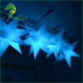 Decoration Shooting LED Colorful Lighting Balloons / Air Star Shaped Ball Light / Christmas PVC Hanging Star