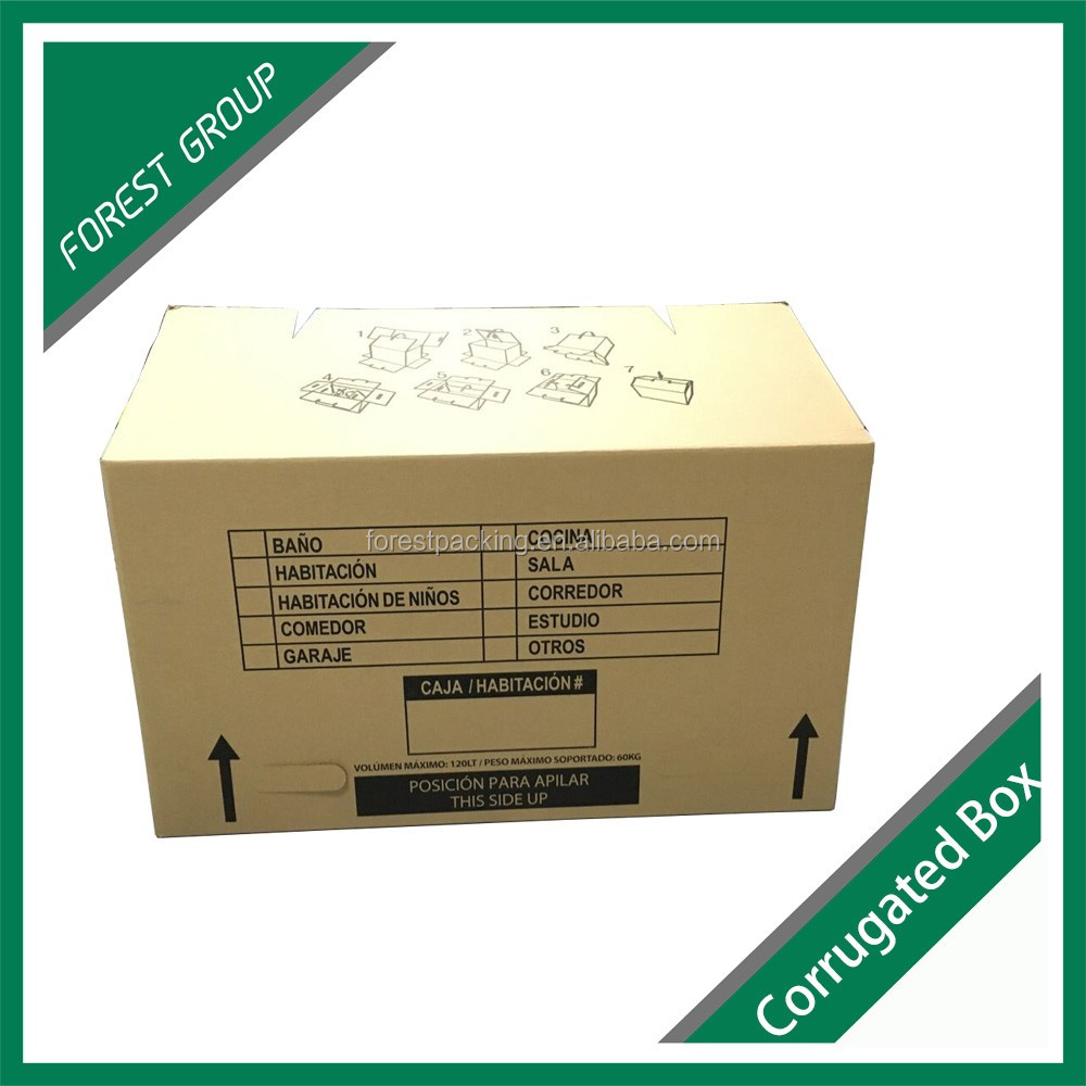 Storage cardboard waxed coated paper corrugated box