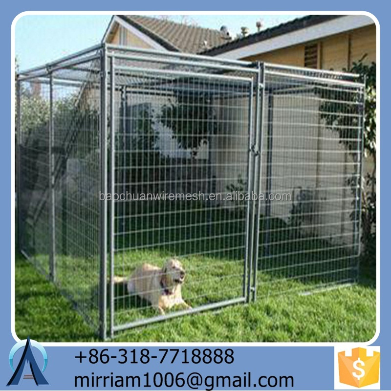 2015 Strong Galvanized Wire Dog Kennels /Tube Dog Crate/Pet Cages/Kennels