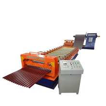 easy operation customized 45#steel corrugated roof tile and wall panel sheet cold roll forming machine
