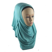 wholesale double loop jersey hijab scarves Muslim Singapore women shawls wrap