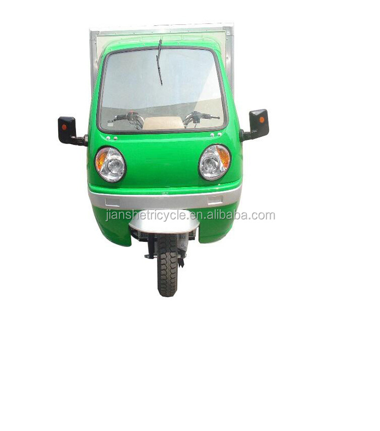 new design 150cc 200cc closed 3 wheeled tricycle