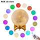 D5.9 Inch Home Decorative Baby Gift Table Luna Ball Shaped 3D Moon Led Night Light For Kids