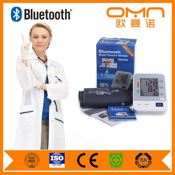OEM omron sphygmomanometer digital arm bluetooth blood pressure monitor with bluetooth