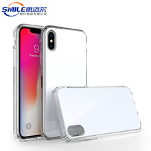SMILE New Fit Shockproof For iPhone X Case Acrylic Transparent Clear Phone Cases Cover For iPhone 10 Case