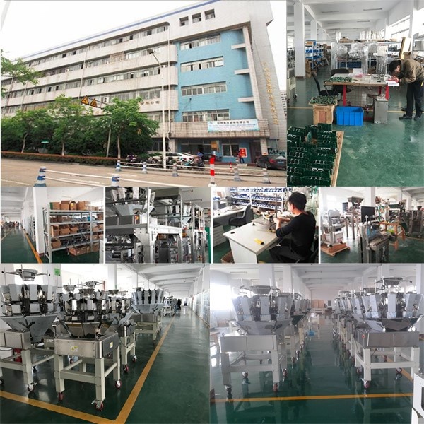 Model V520 CE approval vertical form fill seal packing machine with multihead weigher for chips in gusset bags