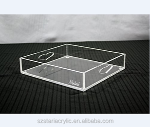 Clear Acrylic Square Tray Serving Tray Storage Tray