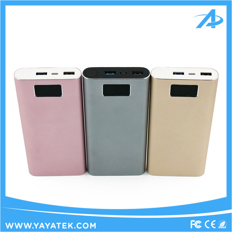 Latest smart QC3.0 quick charger 20000 mah power bank