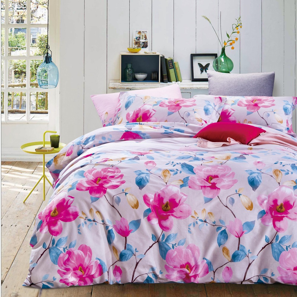Spring nature style Single size cotton duvet cover