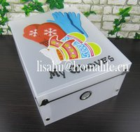 Hanging fancy foldable plastic plane box for documents