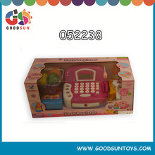 China Hot Selling Toy Store Plastic Cash Register Toy Kids Cashier Set