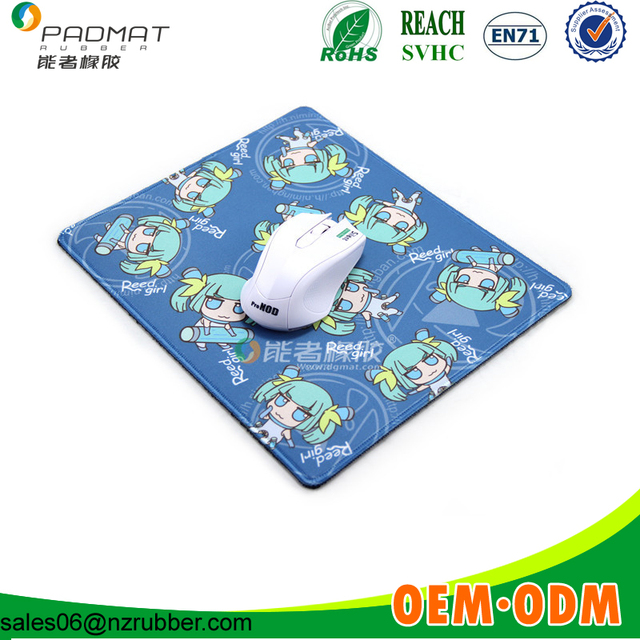 polyester cheap rubber printed mouse pad wholesale