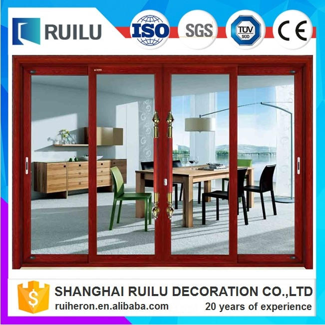 aluminum profile fire protection sliding door with tinted glass for office