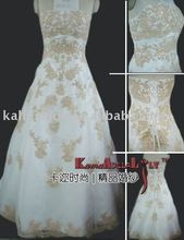 EB812 Exquisite embroidery organza lace Classic Exotic Wedding dress weddin dresses