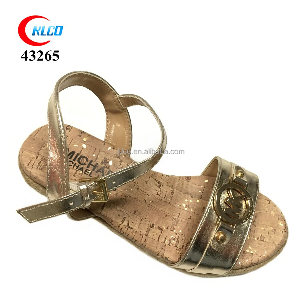 Most popular OEM design sweet sandal girls,slippers with low price