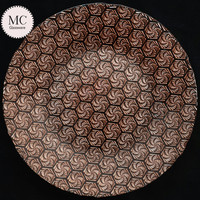 "Rose gold restaurant party 13"" embossed glass charger plates"