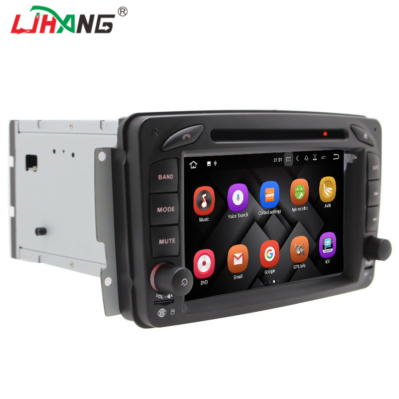 HD 1024x600 Quad core Car DVD <strong>Player</strong> for Mercedes W203 android 7.1 GPS navigation c200 C230 C240 C320 C350 Radio WiFi 3G
