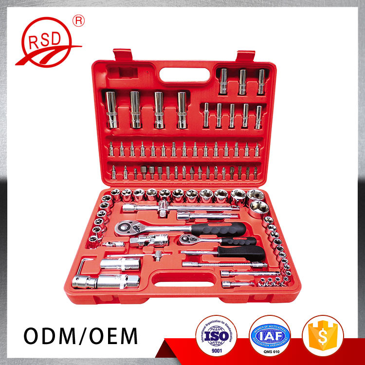 Hand Tools Set Flank Drive Socket 94pcs Auto Repair Tool Box Set