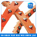 Wholesale steel Nu T profile Type B17 orange link v-belt at low price