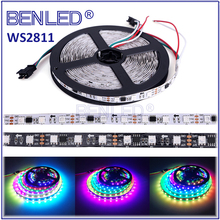 Smart Magic SMD 5050 WS 2811 WS 2812 Pixel DC12V Addressable Full Color RGB 144 Leds Flexible LED WS2811 IC Strip Light