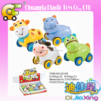 Boy toys-mini friction cars hot animal cartoon cars toys plastic inertial vehicle