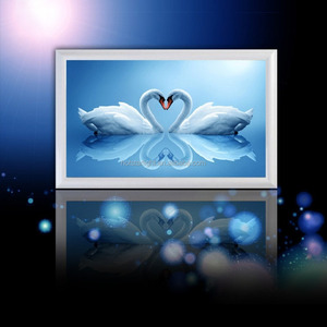 Swan Heart DIY Crystal Diamond Painting, Rhinestone Painting, Counted Paint By Number Kits