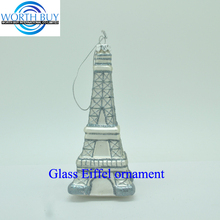 Glass Christmas Eiffel tower ornament gifts wholesale memorial gifts ornaments