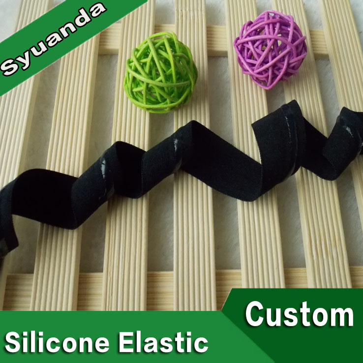 Custom Wholesale Folded Over Silicone Printed Elastic Strap