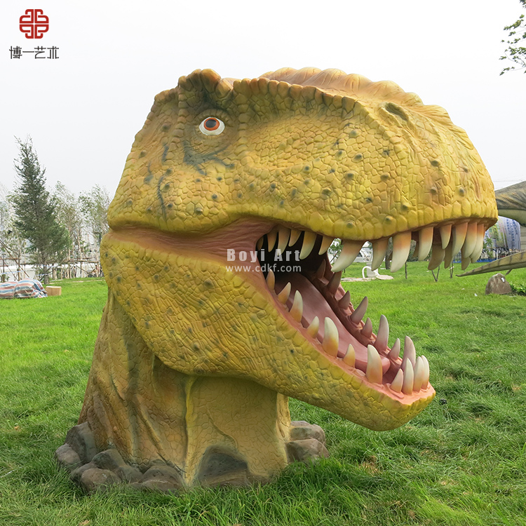 Shopping Mall Promotion Realistic Animated Dinosaurs Head