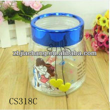 beautiful glass candy jar for festival gifts