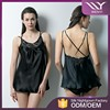 Chinese style wholesale factory cheap transparent mature women short nighty