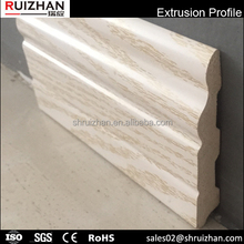 Decorative baseboard/ waterproof PVC skirting board/ wood plastic moldings