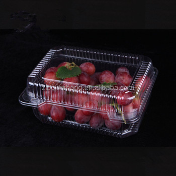 Small clear plastic clamshell boxes for grape and strawberry packaging
