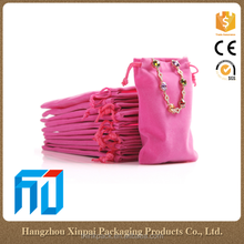 Wholesale Custom Logo Printed Small Velvet Jewelry Pouch With Hot Stamping