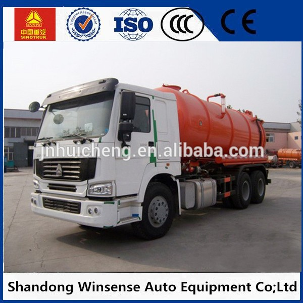 Good quality 10 wheels 15m3 sewage suction tank vehicle