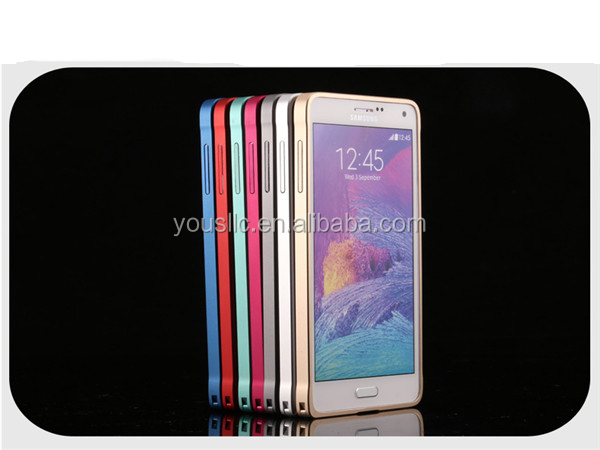 Premium Stylish Aluminum Metal Bumper Case Cover For Samsung Galaxy Note 4 N9100