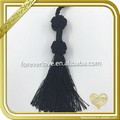 Handmade Small Black Tassel For Making Jewelry FT-038