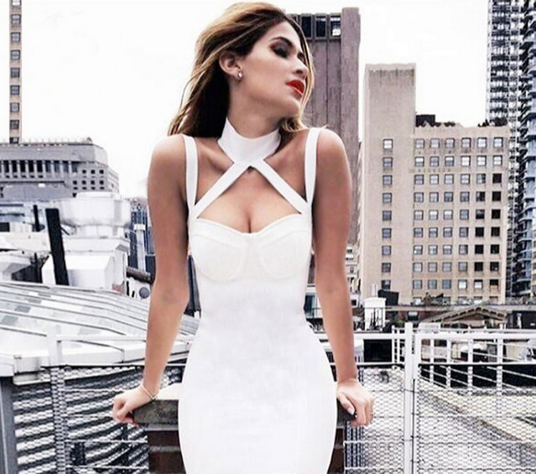 Best Selling Women's Casual Midi Dress Summer Ladies Backless Formal Tight Party Dress Sexy Bandage Dress