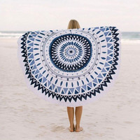Custom design printed round beach towel