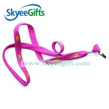 China promotional items woven neck lanyard