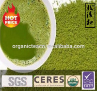 Matcha milk tea powder certified by IMO NOP BRC natural complex additives rich of polyphenol