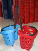 Trade Assurance Best Selling unbreakable plastic baskets, shopping basket with wheels, large oval baskets