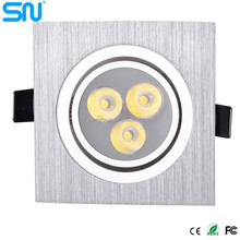 High power warm white/cold white/pure white warranty 3 years 7w led downlight lighting