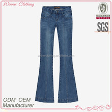 woman clothing factory bell bottom navy blue women sex jeans pants