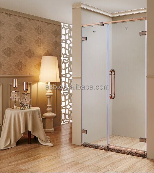 stainless steel 8mm Tempered Glass shower cubicles and enclosures