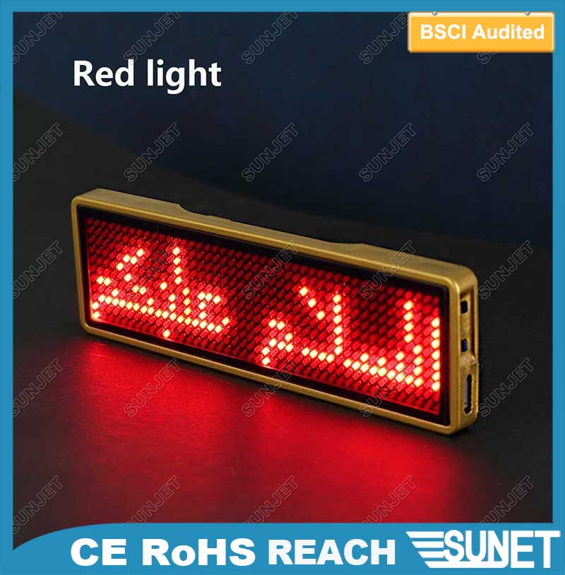 custom made business logo led sign 6 digit 7 segment led display
