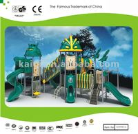 Rubber coated outdoor playground equipment for kids