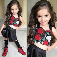 Z56522B Fashion kids party wear girl dress / Different short dress styles / Girls frock designs for party
